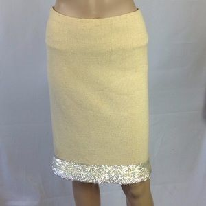 1960's Hand made Sequence Stretch Pencil skirt